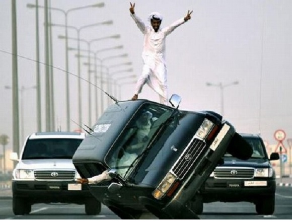 Car surfing reportedly being banned by Saudi Arabian killjoys