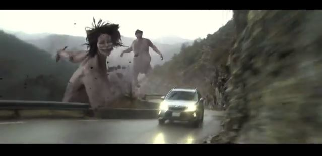 Attack on Titan characters come alive in awesome new Subaru TV commercial