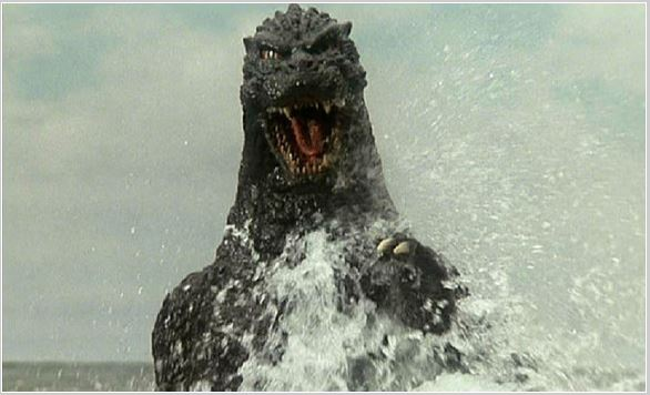 Godzilla is finally discovered in the ocean's depths!
