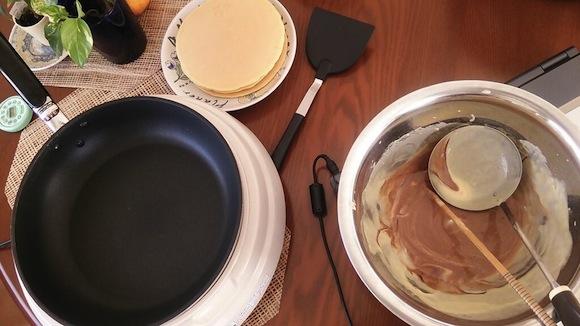 hotcake choc syrup added
