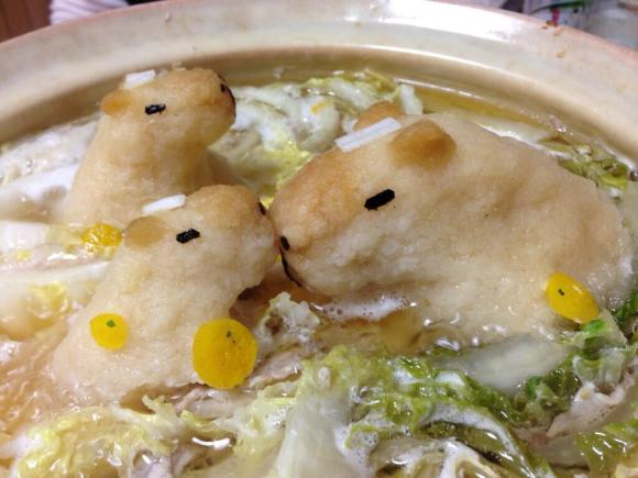 In Japan, not only do capybaras bathe in hot springs, they swim in your soup