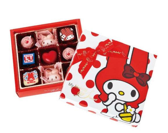 My Melody gets ready for Valentine's Day — and she looks absolutely sweet and delectable!