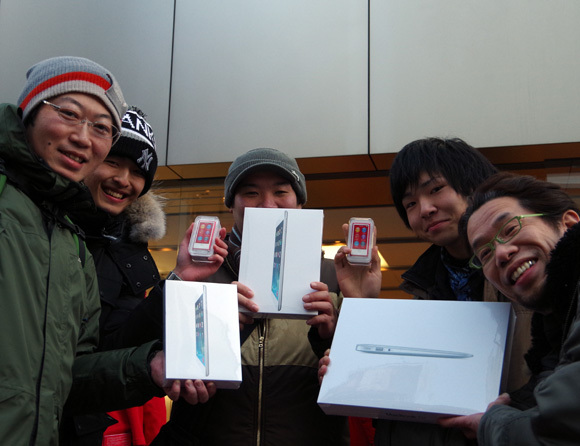 "This Apple store gave away 15 Macbook Airs, stacks of iPads and accessories in ""lucky bags"" this morning"