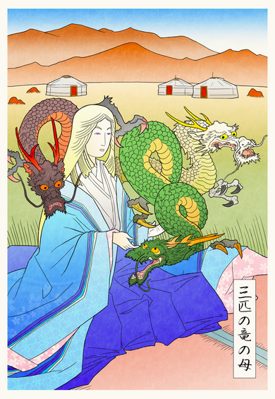 Talented artist imagines what Game of Thrones would look like in feudal Japan