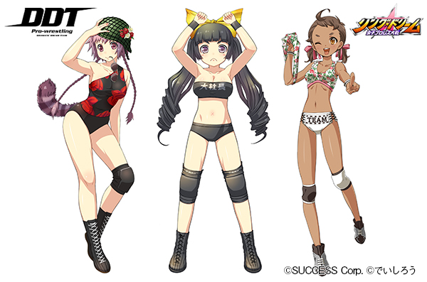 Japanese pro wrestlers become anime girls for new trading card game