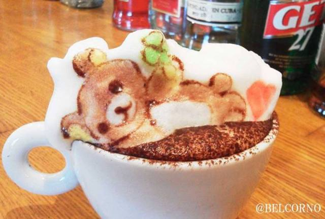 3-D latte art at its best【Photos】