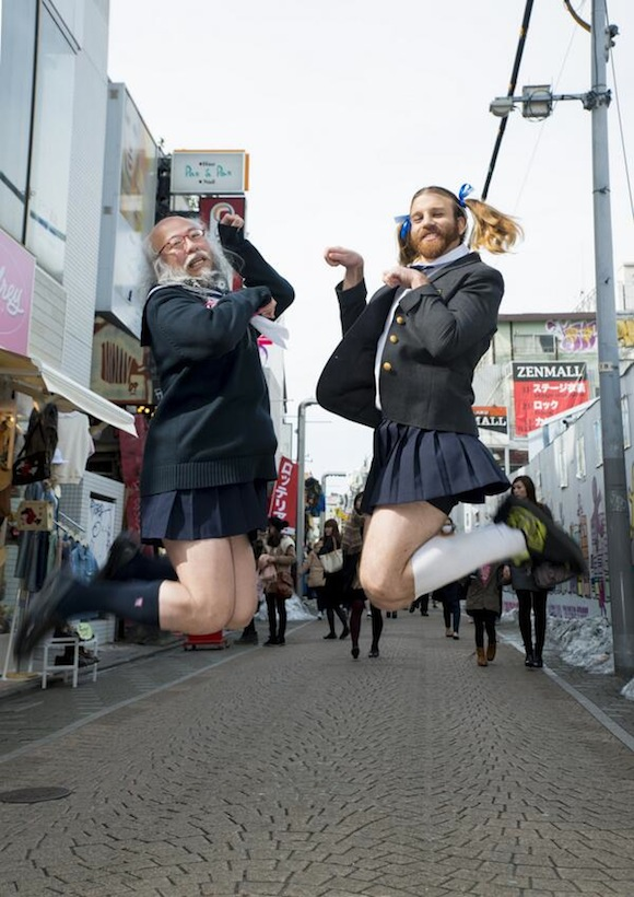 "When Ladybeard meets ""Sailor Suit Old Man"", it's an explosion of manly cuteness【Photos】"