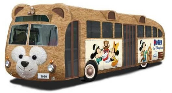 Disney presents the amazing Duffy Bus — a real life teddy bear on wheels!