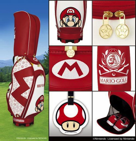 This Mario golf bag might not lower your score, but it will definitely give you 1-up