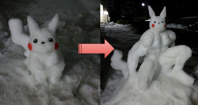 What we learned from Tokyo's blizzard: Snow Pikachu evolves into Machochu