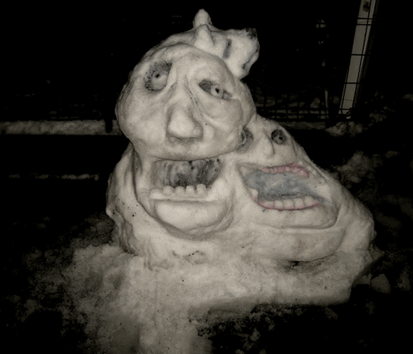 Tokyoite creates epic snow monster following record snow dump, gets  phonecalls from neighbours   SoraNews24 -Japan News-