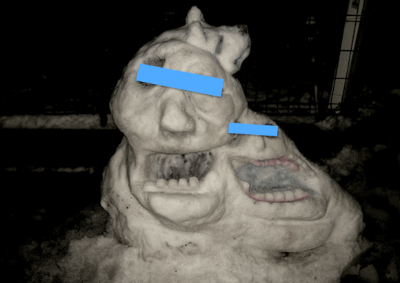 Tokyoite creates epic snow monster following record snow dump, gets phonecalls from neighbours