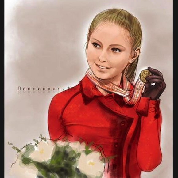Artwork by Japanese fan catches the eye of Russian figure skater Yulia Lipnitskaya