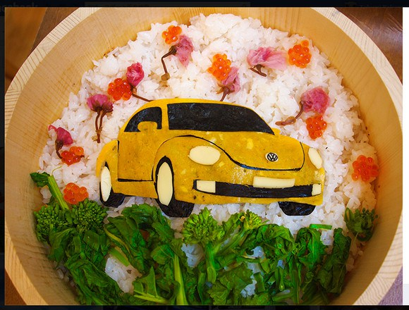 Volkswagen celebrates Girls' Day with Beetle sushi