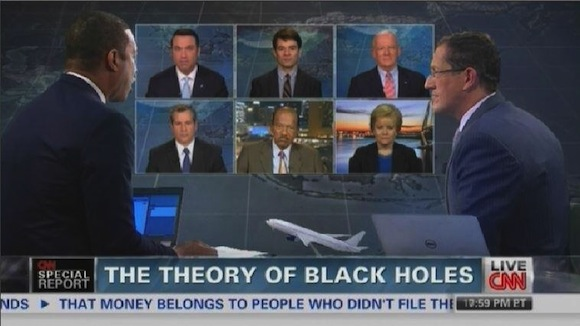 CNN actually speculated if a black hole swallowed the missing Malaysia flight