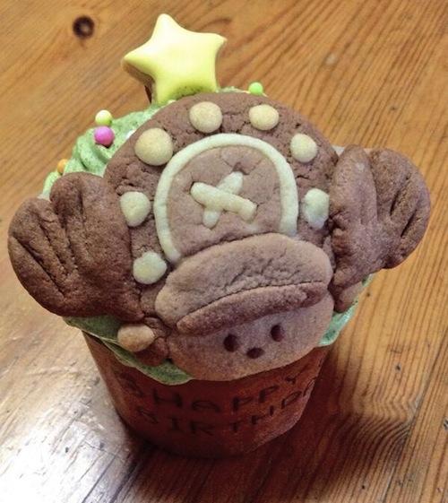 Chopper cupcake