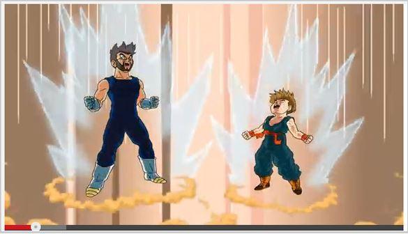 Super (Saiyan) dad creates homemade Dragon Ball animation for his son's birthday