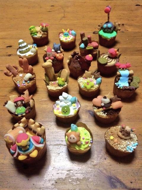 Kirby 64 cupcakes