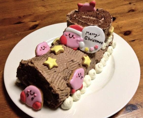 Kirby Christmas cake