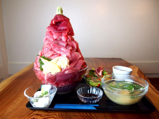 Tokyo restaurant says its lunch set has too much sashimi, as if such a thing were possible