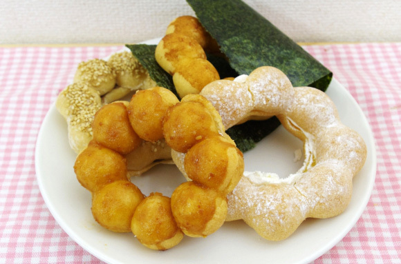 We try savory doughnuts inspired by miso, seaweed rice crackers and more