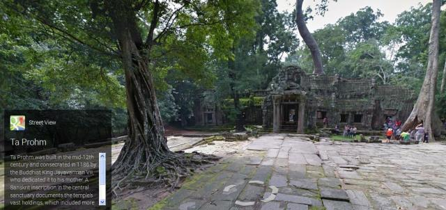 Enjoy the beauty of Angkor in your underpants thanks again to Google Street View