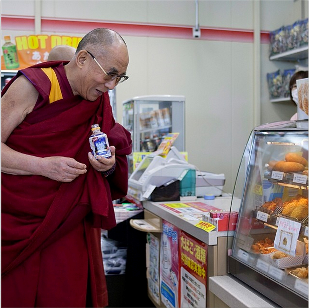 So, the Dalai Lama walks into a convenience store in rural Japan… 【Photos】