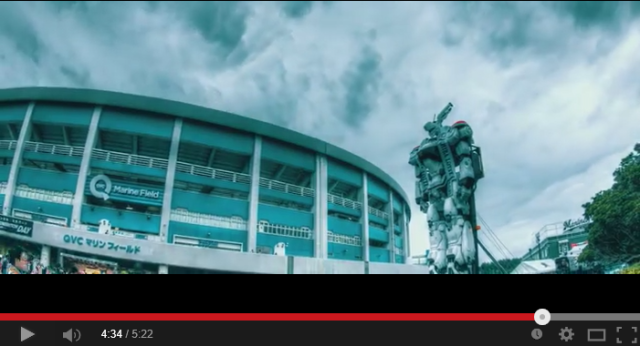 Patlabor's giant robot gets taken out to the ballgame, keeps the peace in Chiba 【Video】