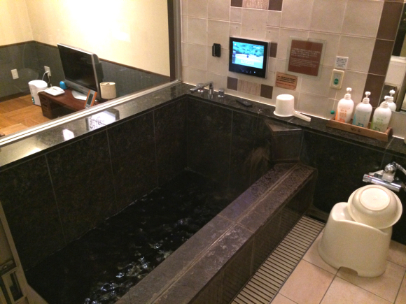 Hidden gem in Tokyo: Black water hot spring hotel