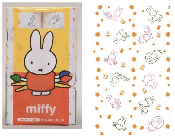 Toilet paper featuring Miffy the bunny promises to be far cuter before you use it than after
