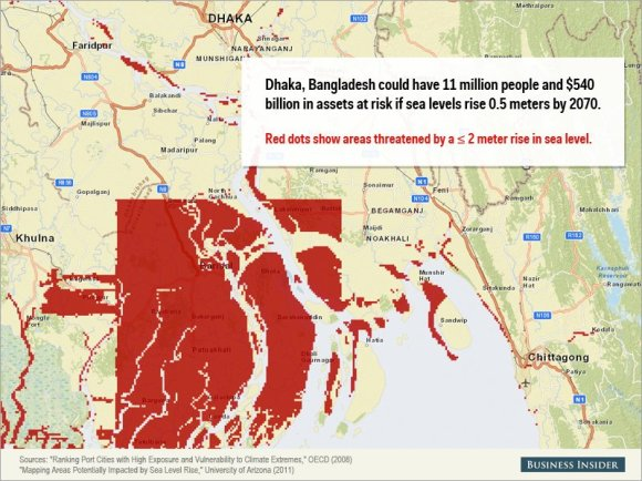 Rising sea levels could cause staggering damage to these cities10