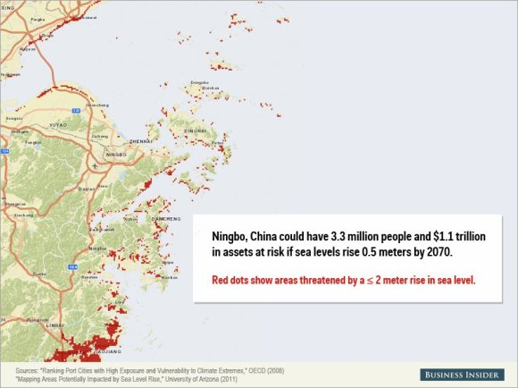 Rising sea levels could cause staggering damage to these cities11