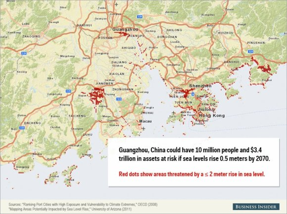 Rising sea levels could cause staggering damage to these cities2