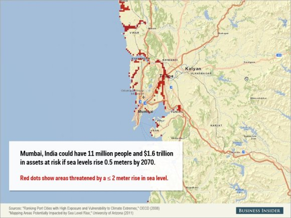Rising sea levels could cause staggering damage to these cities3
