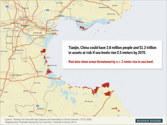 Rising sea levels could cause staggering damage to these cities7