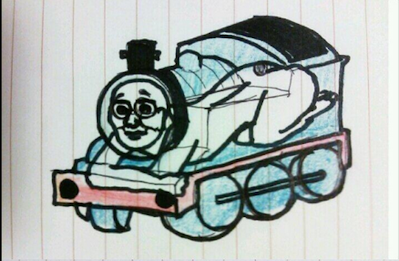 Japanese Twitter user ruins Thomas the Tank Engine for everyone with ultra-creepy drawing