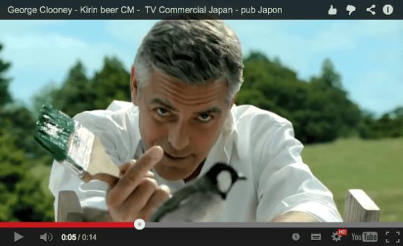 George Clooney appears in Kirin beer ad, sounds a bit like Batman when he speaks Japanese