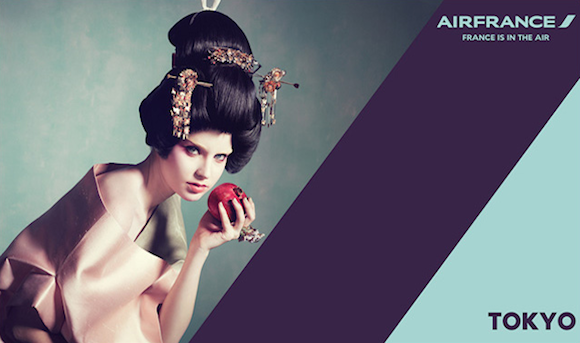 """""""Racist"""" Air France geisha poster prompts satirical home-made fixes"""