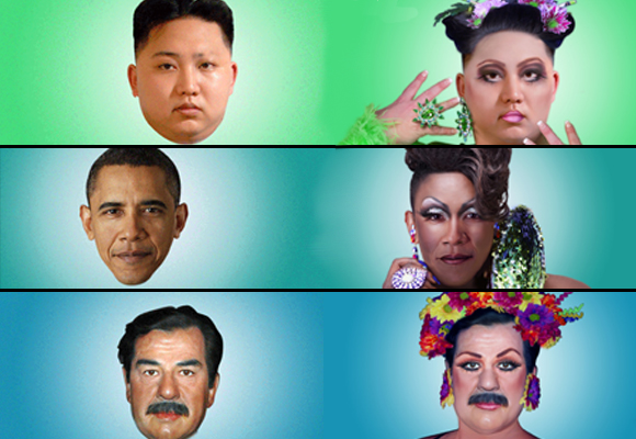 Prominent political figures like you've never seen them before… FABULOUS!