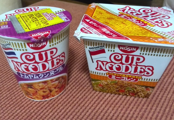 "We try Thai and Indonesian ""Ethnic"" Cup Noodles, one of them tastes like spicy Fruit Loops"