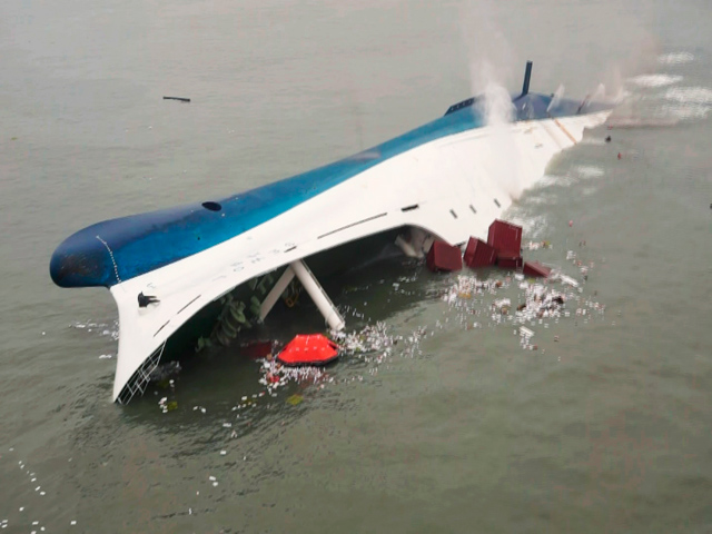 Pulling up the Sewol could take six months and cost US$98,240,000