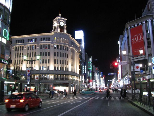Ginza is a fancy place…just look at the elevators!