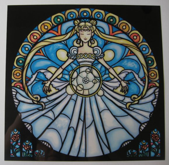 Artist gives anime and comic characters stained-glass look — with stunning results!