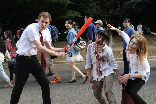 Is this the zombie apocalypse?! Horde of walking dead spotted shambling through Yoyogi Park