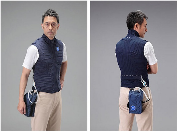 Feeling sweaty? Grab yourself a cooling underwear vest, designed using space suit technology!