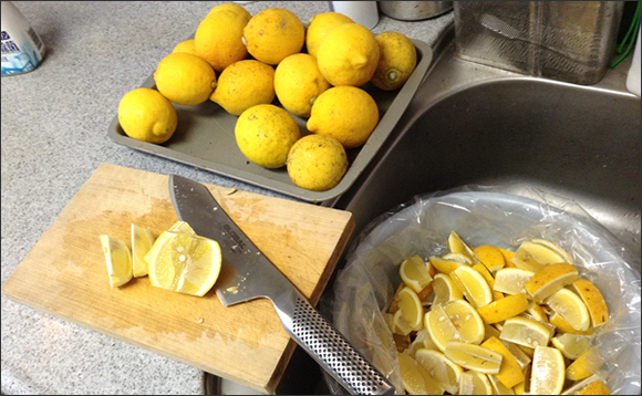 Easy peasy lemon squeezy: Our writer attempts to make salted lemon