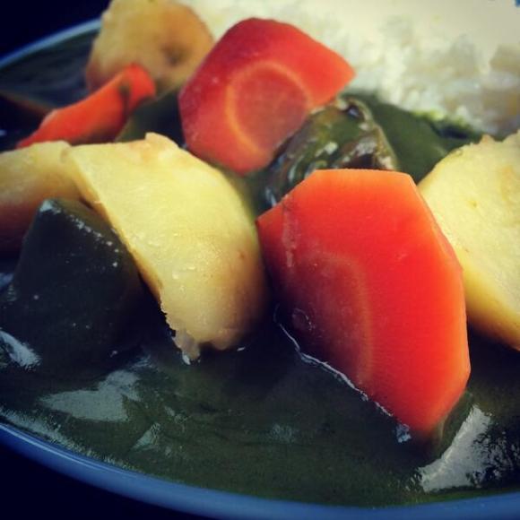 Matcha green tea curry3