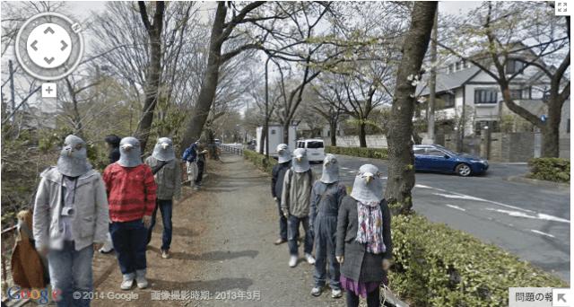 【TBT】Pigeon people flock to Google Street View in Tokyo