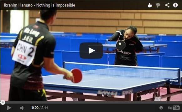 "This table tennis player shows that ""nothing is impossible"" 【Video】"