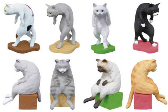 Sit up! Japanese toymaker releases hunchbacked cat collection to stop office workers slouching